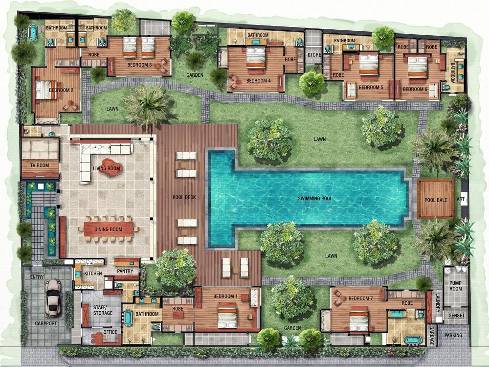 Villa Tiga Puluh Floor Plan