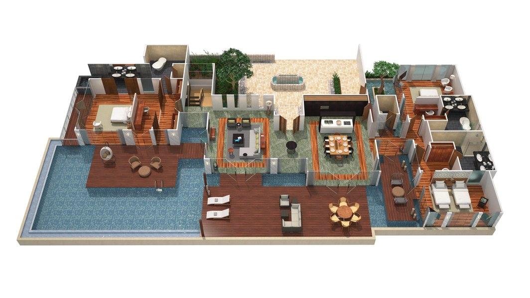 RenaissancePresidential Villa - Floor Plan