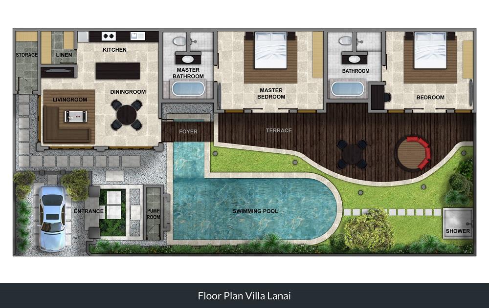 Villa Lanai - Floorplan