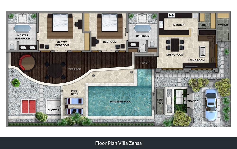 Villa Jepun - Floorplan