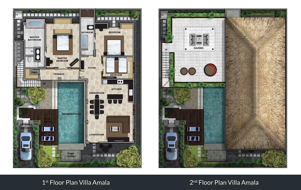Villa Amala - Floorplan