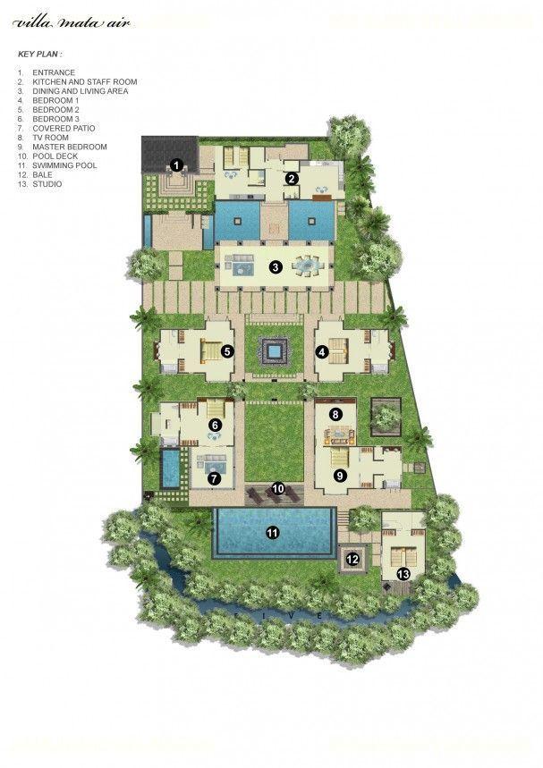 Villa Mata Air - Floor Plan