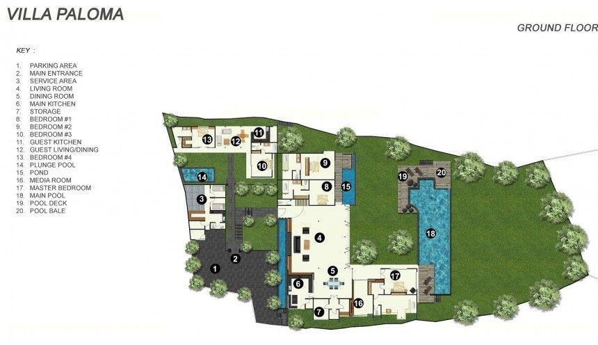 Villa Paloma - Floorplan