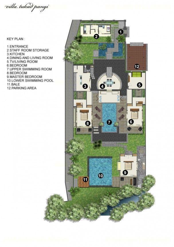 Villa Tukad Pangi - Floor plan